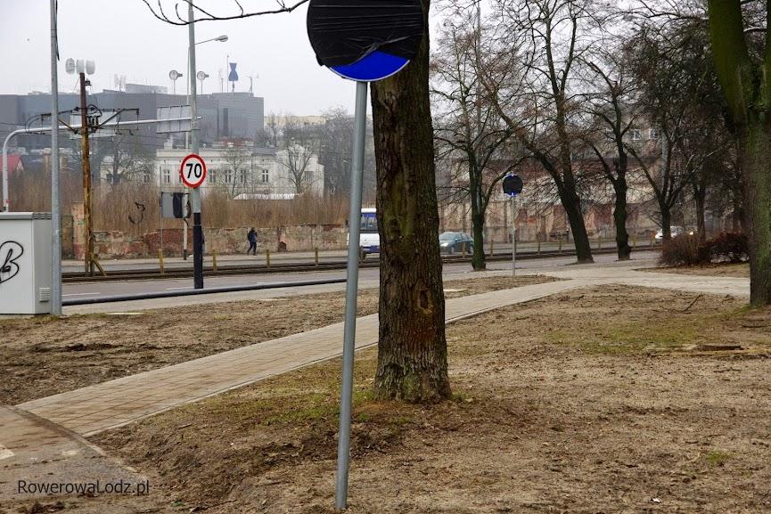 Widok od strony al. Mickiewicza przy parku Poniatowskiego w sobotę 24 stycznia 2015