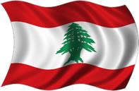 Líbano - bandeira para colorir