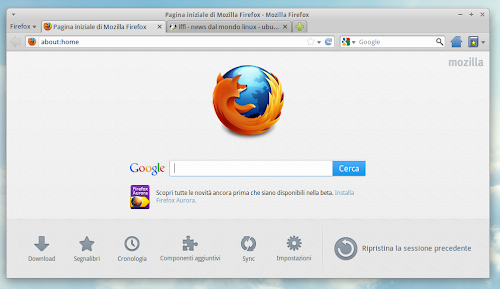 Firefox 13.0 - nuova home