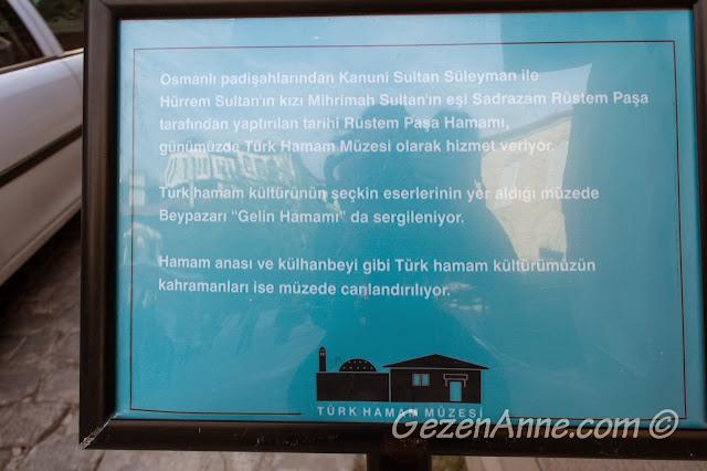 Türk Hamam müzesi olarak kullanılan Rüstem Paşa hamamı tanıtımı, Beypazarı