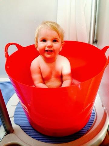 Caravanning with a baby - flexibucket bath