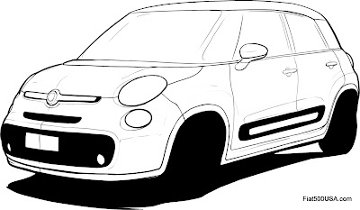 Fiat 500L design sketch 4
