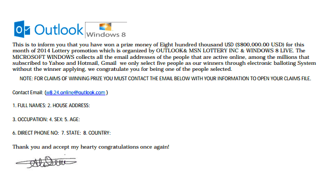 Outlook Contest Email Attachment