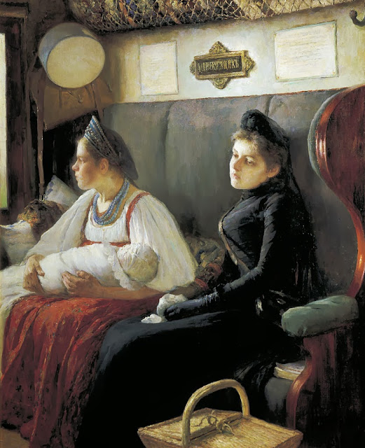 Leonid Pasternak - At parents' house