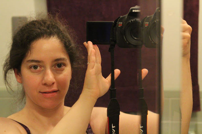 surprisingly non-bleary mirror self-portrait