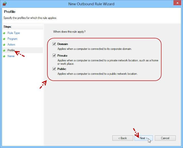 การบล็อกโปรแกรมไม่ให้เชื่อมต่ออินเตอร์เนตด้วย Windows Firewall Fwblockcon07