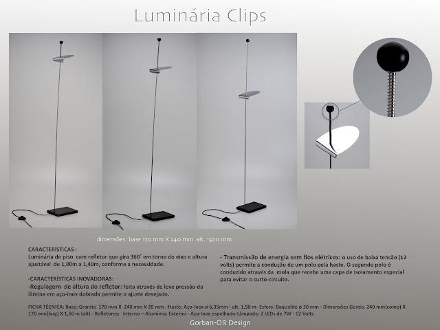 Luminária Clips