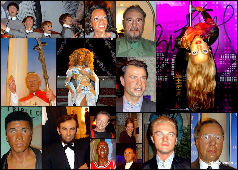 Various Madame Tussaud's wax figures