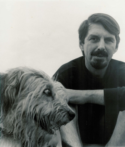 Robert Creeley and a dog