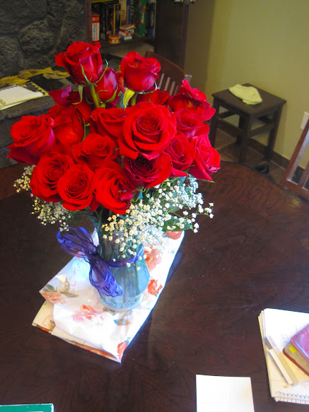 homemaking flowers on the table