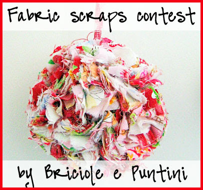 Briciole e Puntini - fabric scrap contest