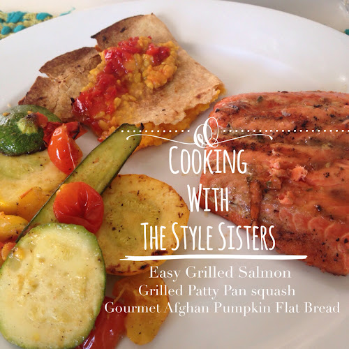 Cooking with The Style Sisters easy grilled mesquite salmon, grilling salmon