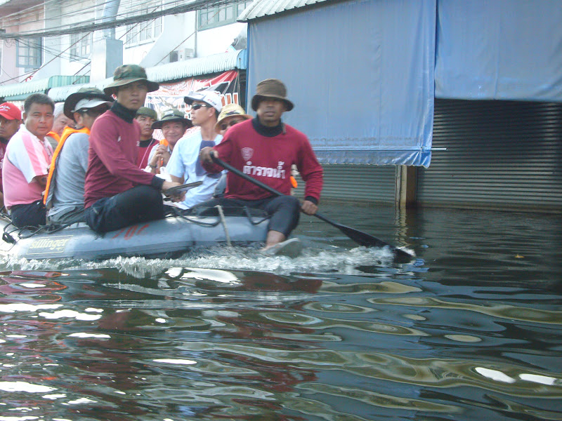Thai staff need inflatable boats to help serve others
