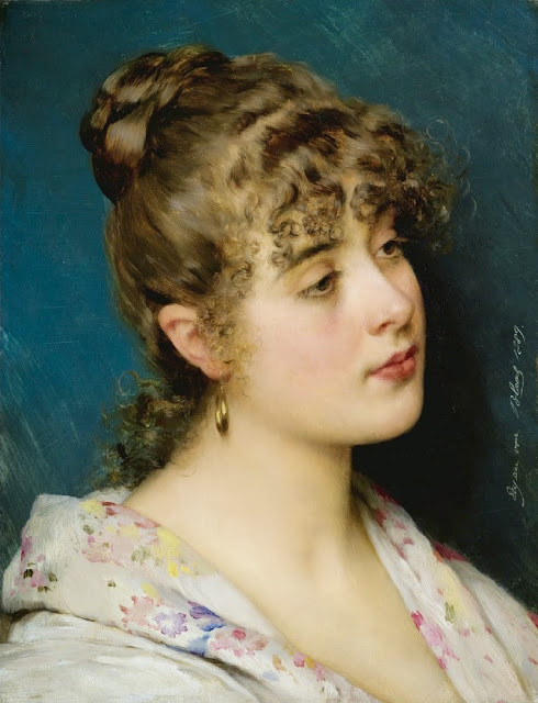 Eugene de Blaas - A Venetian Beauty