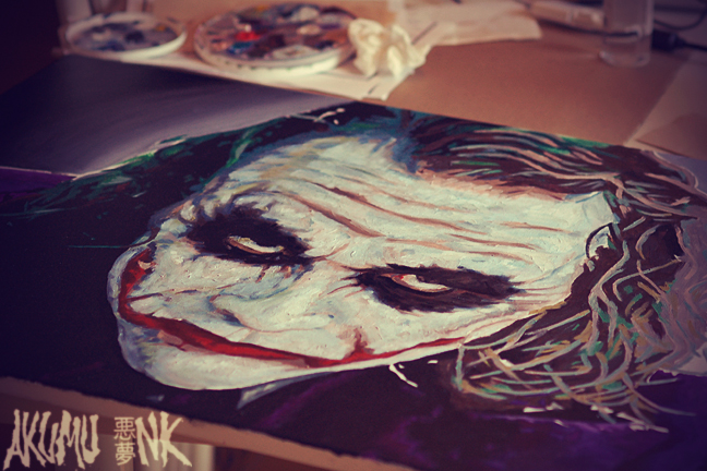 joker painting, batman painting, montreal comic con artist, new york comic con artist, artist alley, comicon artist alley