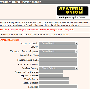 How to Receive Western Union Money Transfer directly into GTbank ...