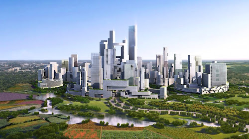 China Eco City near Chengdu