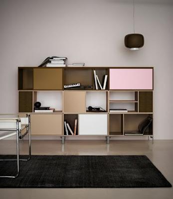 minimalist colorful furniture for home and office 2 554x639 Rak Dan Laci Modular Minimalis Yang Berwarna Warni