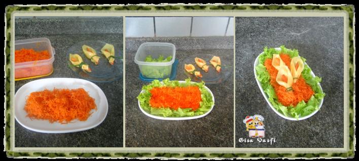 Salada de cenouras com copo de leite de queijo 5