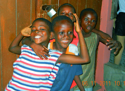 Boisterous kids in Takoradi, my favorite city