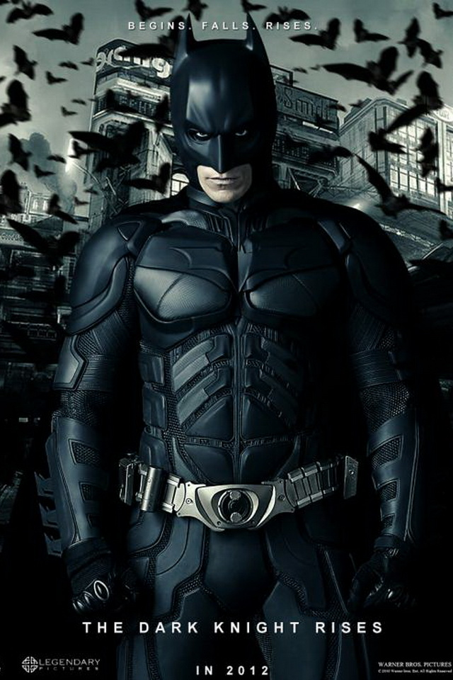 The Dark Knight Rises Poster Wallpaper For iPhone4