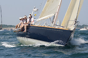 J/44 racer cruiser one-design sailboat- sailing to Bermuda