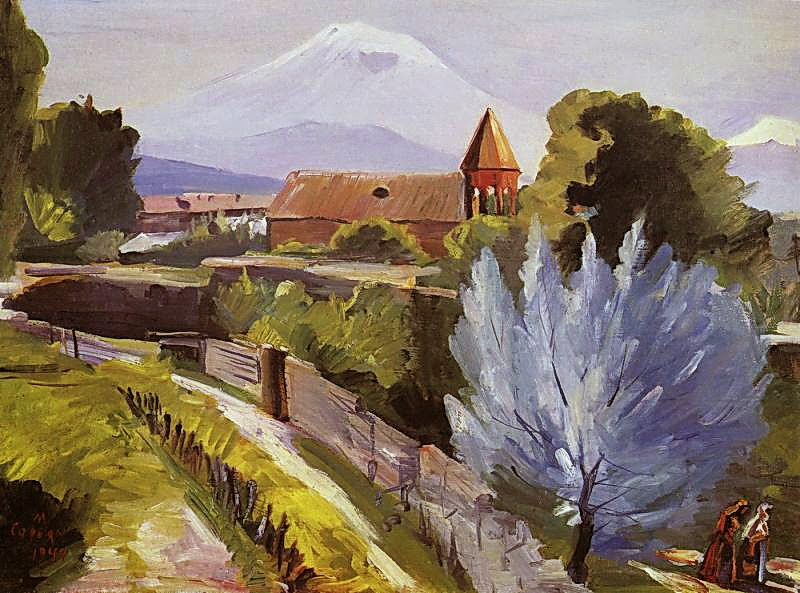Martiros Saryan - April landscape, 1944