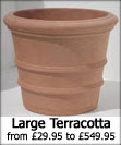 Large Terracotta Pots and Planters that are frost resistant and classic