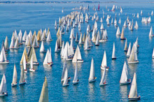 Tour de Belle Ile race off La Trinite sur mer, france- J sailboats leading brand