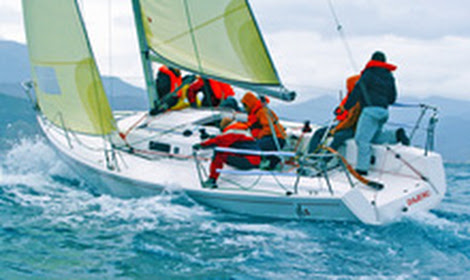 J/92s sailing off Portofino, Italy