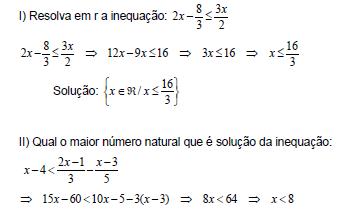 questoes de inequações 1 grau