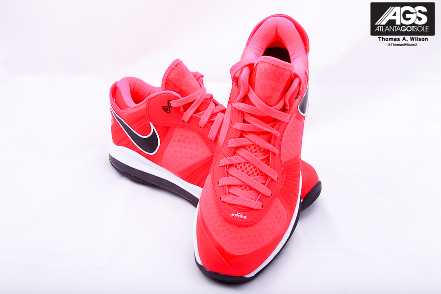 Nike Air Max LeBron VIII 8 V2 Low Solar Red