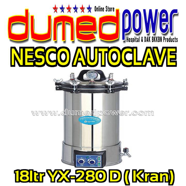 Nesco-Sterilizer-Autoclave-18ltr-YX-280D-plus-Kran-Made-in-China