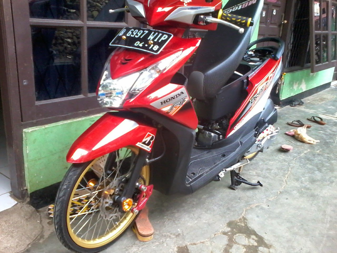 Honda Beat Fi Modifikasi Velg 17
