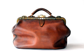 Кожаный саквояж ручной работы, коричневый, битый  art № 155