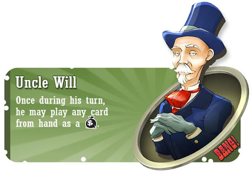 Uncle Will BANG! card game character