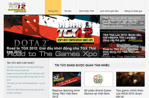 GameLandVN là đối tác bảo trợ truyền thông TGX 2012 2