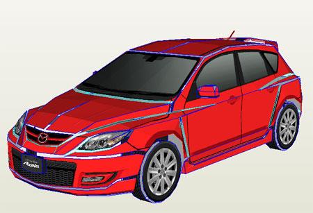 Mazda3 Mazda Axela Papercraft