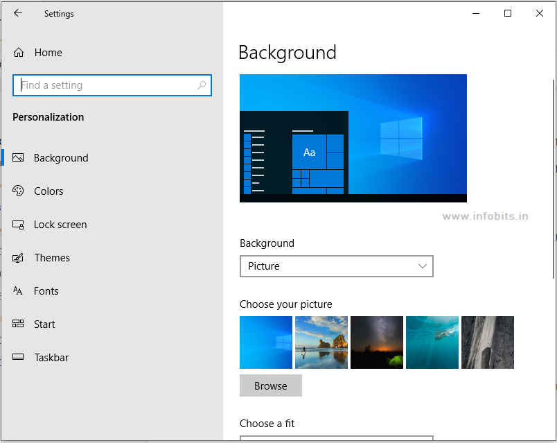 Appearance settings-things to do after installing windows 10