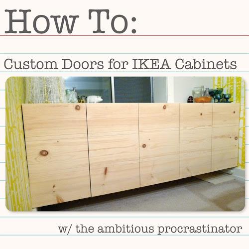 The Ambitious Procrastinator Diy Ikea Cabinet Doors