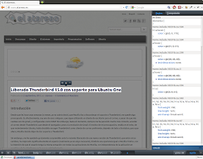 Probando la nueva versión de Firefox 15.0