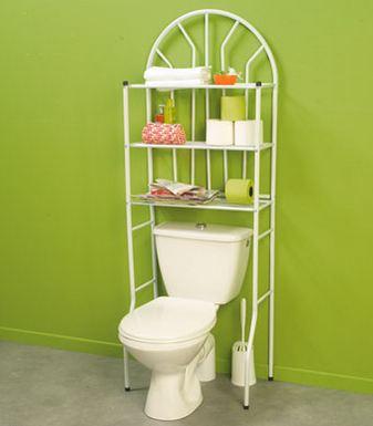 Estantería para cuartos de baño pequeños.