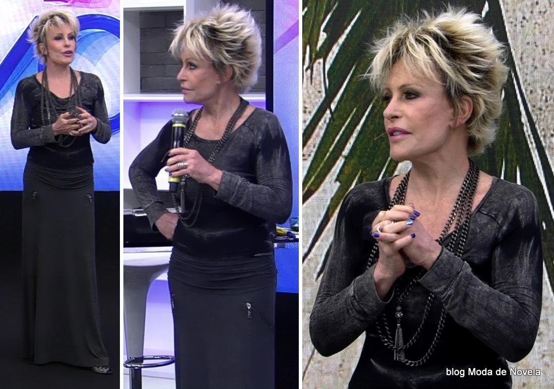 moda do programa Mais Você - look da Ana Maria Braga dia 21 de maio