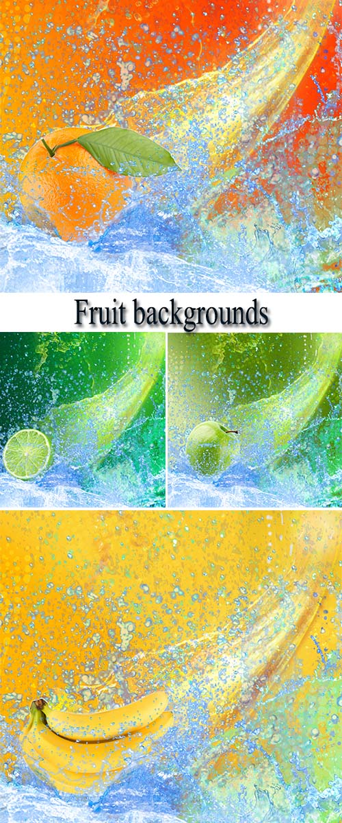 Stock Photo: Fruit backgrounds