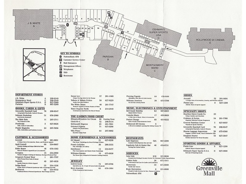 The shopping center you can visit at: Haywood Rd, Greenville, SC In the following section you will find all the stores in the mall. To view more information about a specific store, please click on the store below.4/4(1).