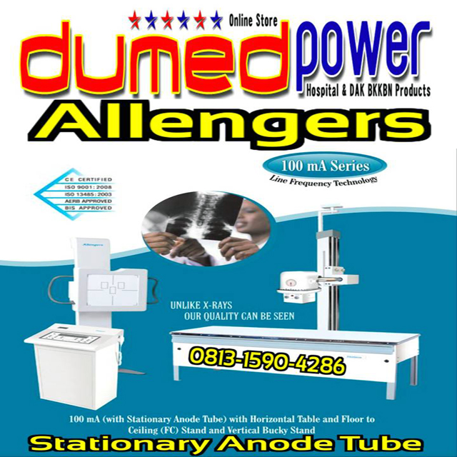 Allengers-60-100-SBM-X-Ray-with-Stationary-Anode-Tube-Horizontal-Table-Floor-to+Ceiling-Rel-Tube-Stand-100-mA