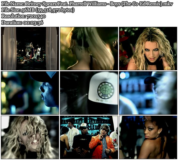 Britney Spears Feat Pharrell Williams - Boys (The Co-EdRemix)