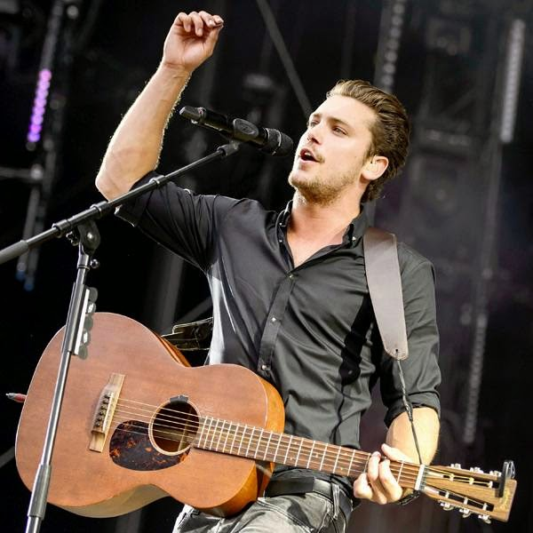 Swiss singer Bastian Baker performs on the opening day of the 39th Paleo Festival Nyon on July 22, 2014 in Nyon, Switzerland.