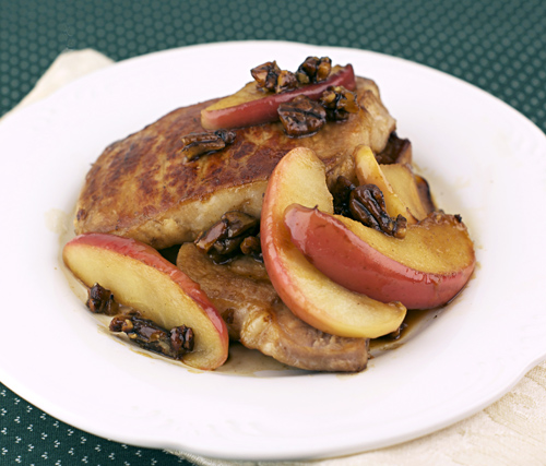 apple pecan pork chops