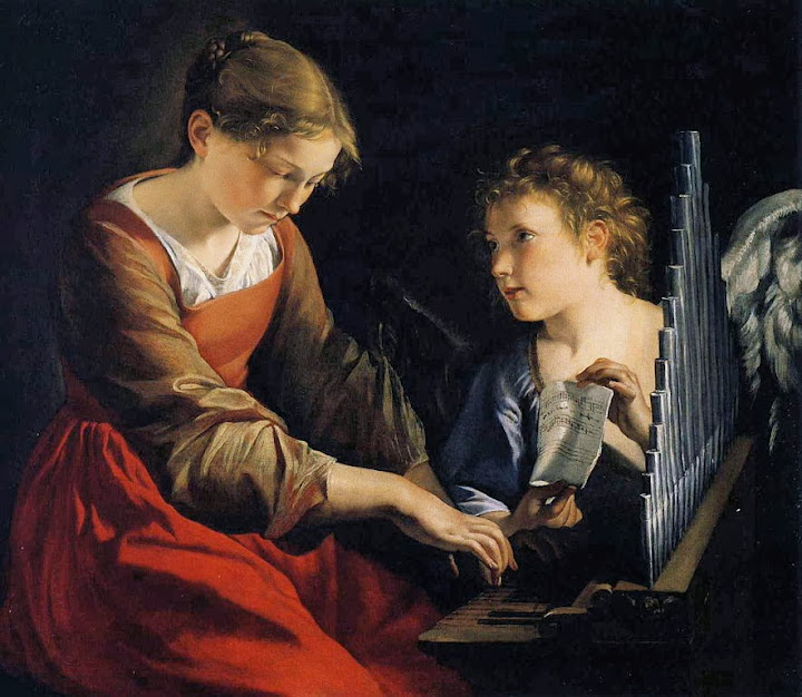 Orazio Gentileschi - Saint Cecilia with an Angel